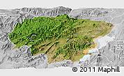 Satellite Panoramic Map of North Omo, lighten, desaturated