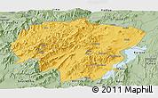 Savanna Style Panoramic Map of North Omo