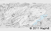 Silver Style Panoramic Map of North Omo