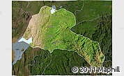 Satellite 3D Map of Sidama, darken