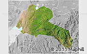 Satellite 3D Map of Sidama, lighten, desaturated