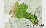 Satellite 3D Map of Sidama, lighten
