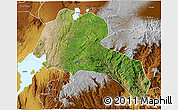 Satellite 3D Map of Sidama, physical outside