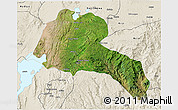 Satellite 3D Map of Sidama, shaded relief outside