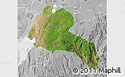 Satellite Map of Sidama, lighten, desaturated