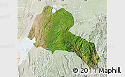 Satellite Map of Sidama, lighten