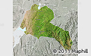 Satellite Map of Sidama, lighten, semi-desaturated