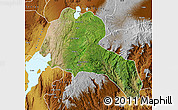 Satellite Map of Sidama, physical outside