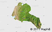 Satellite Map of Sidama, single color outside