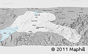 Gray Panoramic Map of Sidama