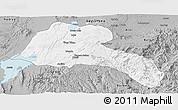 Gray Panoramic Map of Sidama