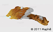 Physical Panoramic Map of Sidama, cropped outside