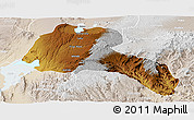 Physical Panoramic Map of Sidama, lighten