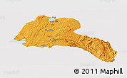Political Panoramic Map of Sidama, cropped outside