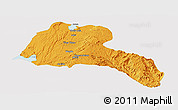 Political Panoramic Map of Sidama, single color outside