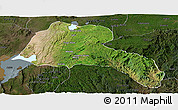 Satellite Panoramic Map of Sidama, darken
