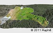 Satellite Panoramic Map of Sidama, darken, semi-desaturated