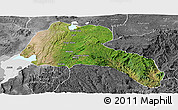 Satellite Panoramic Map of Sidama, desaturated