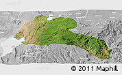 Satellite Panoramic Map of Sidama, lighten, desaturated