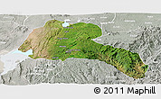Satellite Panoramic Map of Sidama, lighten, semi-desaturated