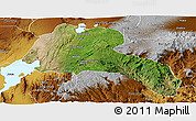 Satellite Panoramic Map of Sidama, physical outside