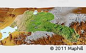 Satellite Panoramic Map of Sidama, physical outside