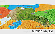 Satellite Panoramic Map of Sidama, political outside