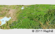 Satellite Panoramic Map of Sidama