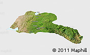 Satellite Panoramic Map of Sidama, single color outside