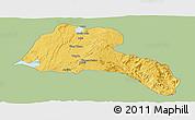 Savanna Style Panoramic Map of Sidama, single color outside