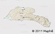 Shaded Relief Panoramic Map of Sidama, cropped outside