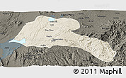 Shaded Relief Panoramic Map of Sidama, darken
