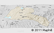 Shaded Relief Panoramic Map of Sidama, desaturated