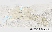 Shaded Relief Panoramic Map of Sidama, lighten