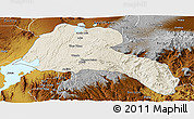 Shaded Relief Panoramic Map of Sidama, physical outside