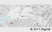 Silver Style Panoramic Map of Sidama