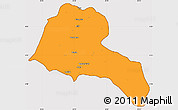 Political Simple Map of Sidama, cropped outside