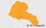 Political Simple Map of Sidama, single color outside