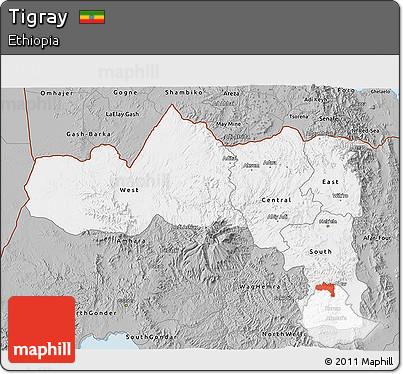 Gray 3D Map of Tigray