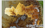 Physical 3D Map of Tigray, darken