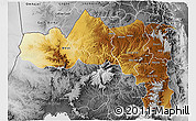 Physical 3D Map of Tigray, desaturated