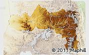 Physical 3D Map of Tigray, lighten
