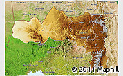 Physical 3D Map of Tigray, satellite outside