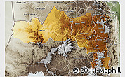 Physical 3D Map of Tigray, semi-desaturated