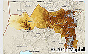 Physical 3D Map of Tigray, shaded relief outside