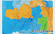 Political 3D Map of Tigray, political shades outside