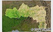 Satellite 3D Map of Tigray, darken