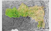 Satellite 3D Map of Tigray, desaturated
