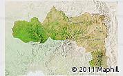 Satellite 3D Map of Tigray, lighten