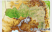 Satellite 3D Map of Tigray, physical outside